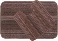 Saral Home Polyester Medium Anti-slip/Anti-grease Mat Polyester Bathmat(Brown)
