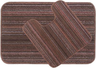 Saral Home Polyester Medium Anti-slip/Anti-grease Mat Polyester Bathmat