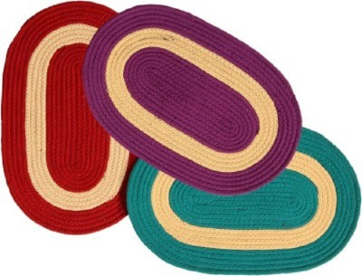 Kuber Industries Cotton Medium Door Mat Door Mat Set of 3 Pcs