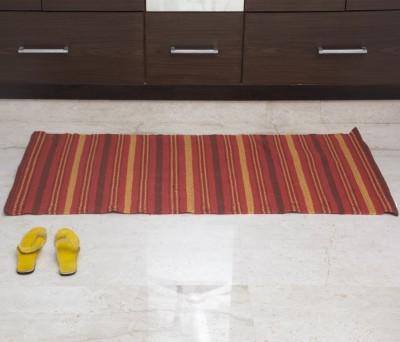 House This Cotton Free Floor Mat Floor Rug(Red, 1 Floor Mat)