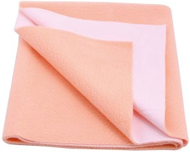 Cozy Dry Cotton Baby Bed Protecting Mat Mat Waterproof Sheet Large(Peach, Large)