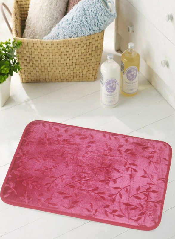 BIANCA Microfiber Anti-slip/Anti-grease Mat BATH MAT(Maroon, Medium)