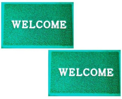 Kuber Industries Rubber Medium Door Mat Door Mat PVC Set of 2 Pcs