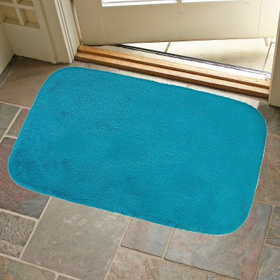 KunalHomeConcept Cotton Small Bath Mat Turquoise Oslo Bathmat