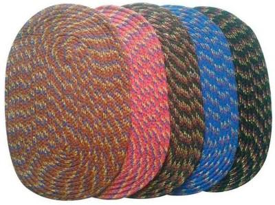 Chaitnya Handloom Cotton Medium Floor Mat Cotton Oval Floor Mat