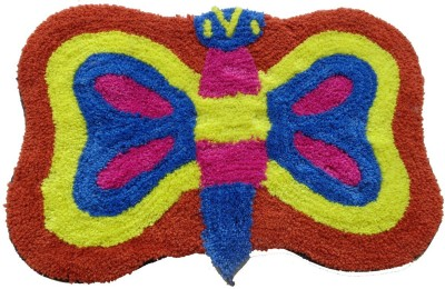 Home Fashion Microfiber Medium Door Mat Butterfly