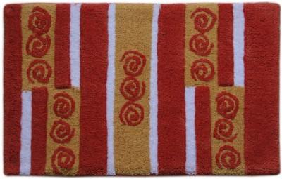 Paramorasi Cotton Medium Bath Mat Mevrick Red Multi