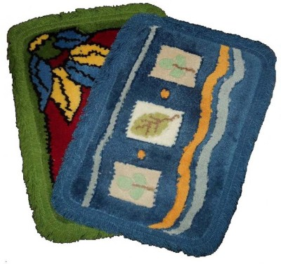 Amita Home Furnishing Wool Medium Door Mat Colorful