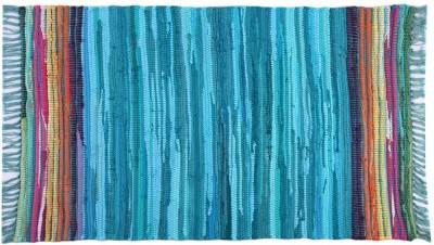 Homenblingss Cotton Small Door Mat Equals2 Blue Rug