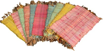 Ritika Carpets Cotton Small Door Mat Set of 10 Multi Purpose Door Mat