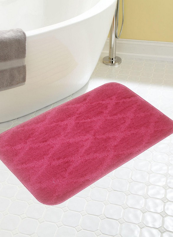 BIANCA Microfiber Anti-slip/Anti-grease Mat BATH MAT(Burgundy, Medium)