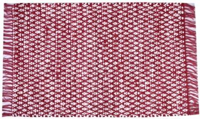 Homenblingss Cotton Small Door Mat Asterix Burgundy Rug