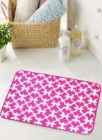 BIANCA Microfiber Medium Anti-slip/Anti-grease Mat BATH MAT(Pink, 1 BATH MAT)
