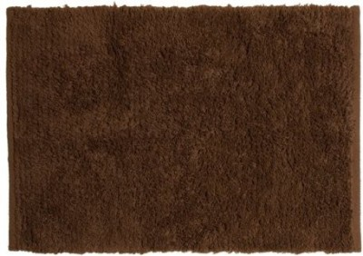 Pam Grace Creations Cotton Small Floor Mat Oh So Shaggy Chocolate Truffle