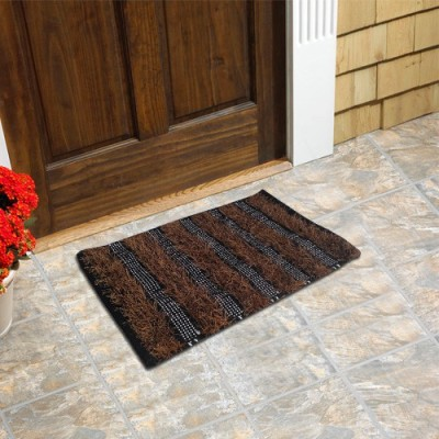 Firangi Cotton, Nylon, Polyester Free Floor Mat Firangi Decorative Fur Reversible Door
