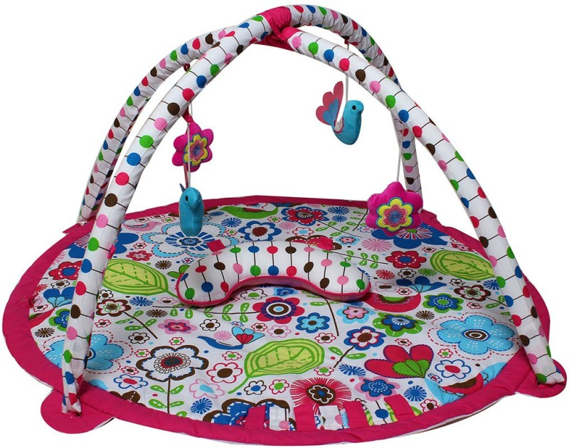 Bacati Cotton Gym Mat BIBOMPAG(Multicolor, Free)