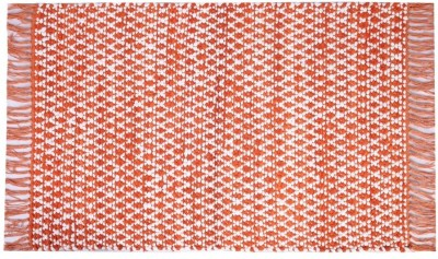 Homenblingss Cotton Small Door Mat Asterix Orange Rug