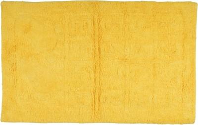 Brabuon Cotton Medium Floor Mat Yellow Cotton Bath (length 80 cm and width 50 cm)