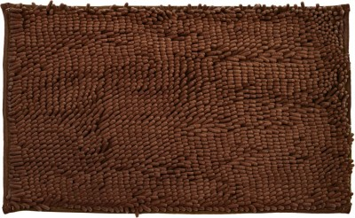 Just Linen Polyester Medium Door Mat Floor coverings(Saddle Brown, 1 Mat)