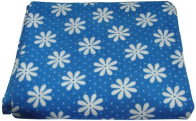 Blue Cotton Large Sleeping Mat Regular Flower Print