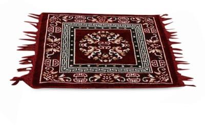Firangi Polyester Free Floor Mat Firangi Designer Puja Carpet
