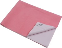 Quick Dry Microfiber Large Baby Bed Protecting Mat Mat Bed Protector(Salmon Rose, 1 Mat)