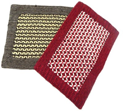 Peponi Polyester Small Door Mat Peponi Multicolor Hand Woven Door Mat Set of 2