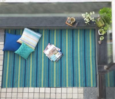 House This Cotton Free Floor Mat Floor Rug(Green, 1 Floor Mat)