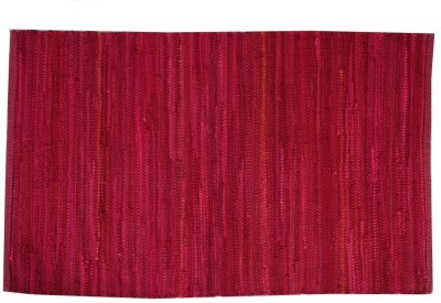 Homenblingss Cotton Small Door Mat Solid Wine Rug