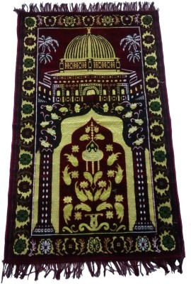 Fiable Polyester Large Prayer Mat Janemaz - (Maroon)(Maroon, 1 Janemaz)