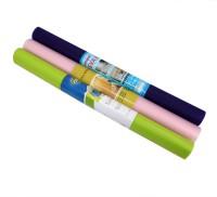 Shubheksha PVC Free Anti-slip/Anti-grease Mat Set of 3 Mats(Green, Pink, Purple, 3 Anti-slip Mats)