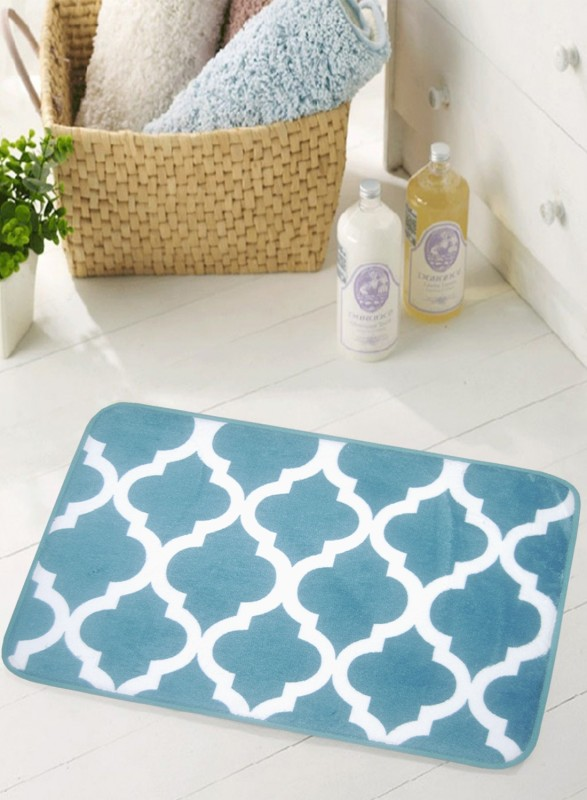 BIANCA Microfiber Anti-slip/Anti-grease Mat BATH MAT(TURQUASE, Medium)