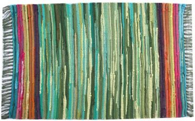 Homenblingss Cotton Small Door Mat Equals2 Green Rug