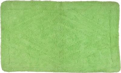 Brabuon Cotton Medium Floor Mat Green Cotton Bath(length 80 cm and width 50 cm)