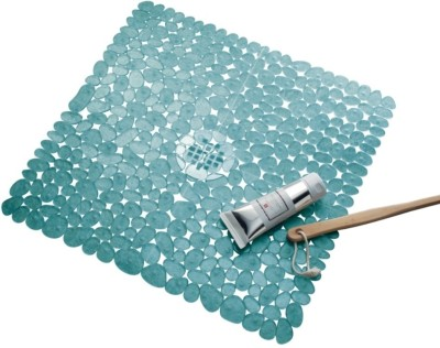 Interdesign PVC Large Bath Mat Pebblz Square Shower Mat
