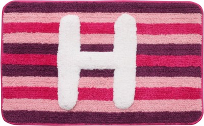 Saral Home Polyester Medium Baby Bath Mat Supersoft Micro Polyester Initialized Bathmat Ideal As A Return Gifts
