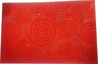 Ryka PVC Large Door Mat DRMTRGDCRCL(Red, 1 Mat)