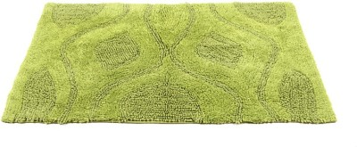 Homefurry Green Bed Flower Cotton Large Bath Mat Bath Mat, Bath Rugs