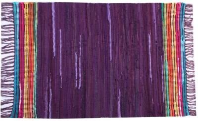Homenblingss Cotton Small Door Mat Equals2 Purple Rug