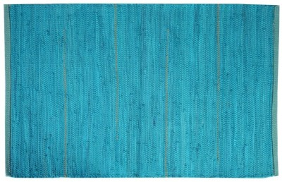 Homenblingss Cotton Small Door Mat Solid Teal rug