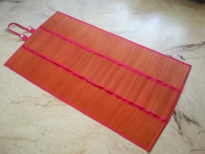 Jupiter Gifts and Crafts River Grass Free Camping Mat Bamboo Mat (Red)(Red, 1 Mat)