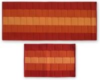 Status Nylon Door Mat IRIS_COMBO_ORANGE_DM+RUNNER(Multicolor, Medium)