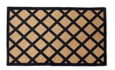 Random in Tandem Jute Medium Floor Mat The CrissCross Mat