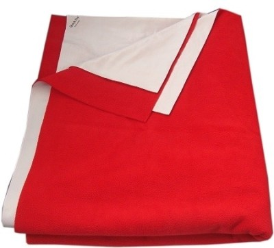 Quick Dry Cotton Extra Large Changing Mat Quick Dry Plain Single Bed Red