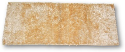 Sudesh Handloom Polyester, Velvet Medium Floor Mat Sudesh Handloom Imported Stuff Light Golden Rug