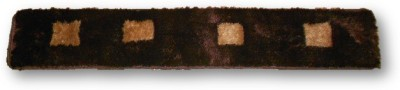 Sudesh Handloom Non-woven Free Floor Mat Sudesh Handloom Brown Golden Check Design Rug 3D