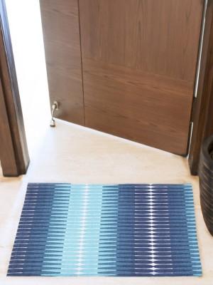 House This Cotton Medium Floor Mat Floor Rug(Blue, 1 Floor Rug)