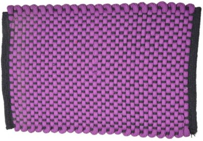 Chaitnya Handloom Cotton Medium Floor Mat soft purple mat