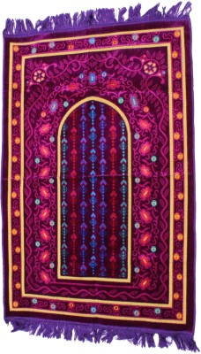 Muslimkart Polyester Medium Prayer Mat Mat(Purple, 1 Mat)