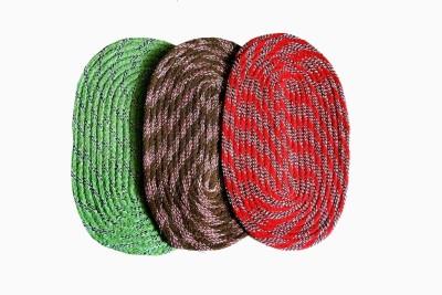 India Furnish Cotton Medium Door Mat India Furnish Cotton Designer Oval Footmat - Set of 3 (13
